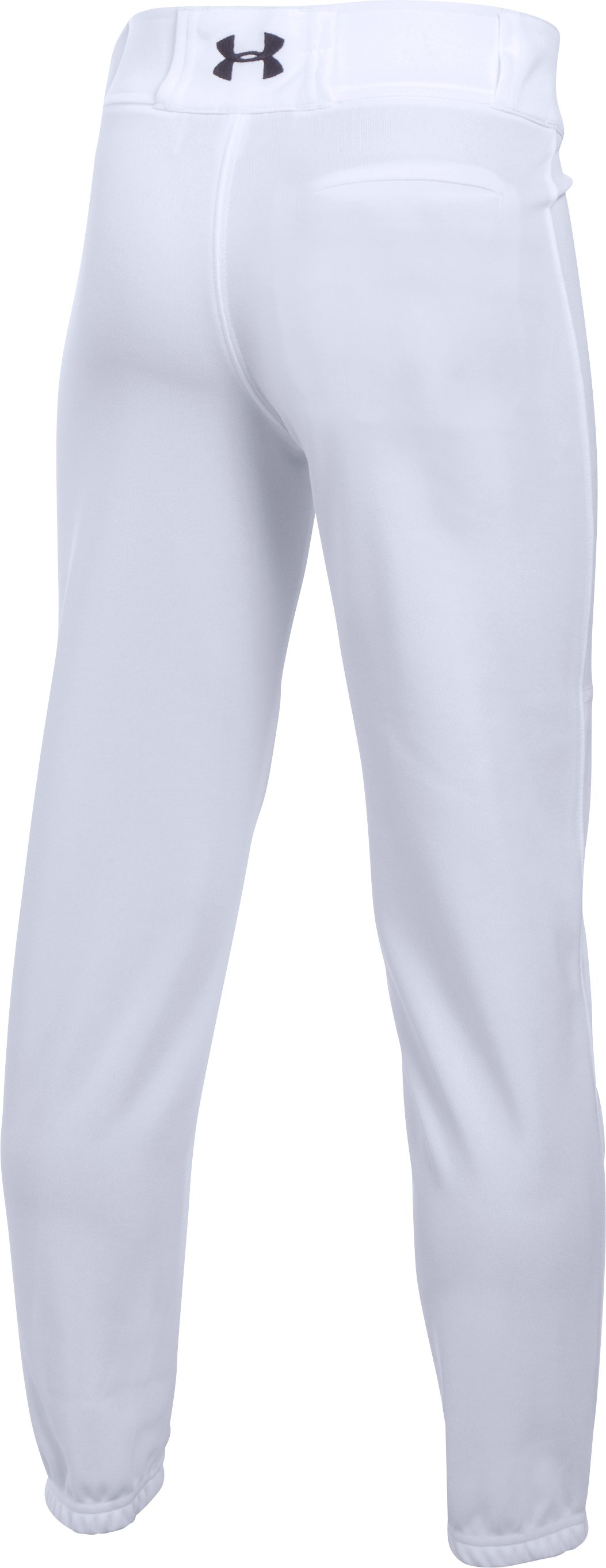 Boys' UA Clean Up Cuffed Baseball Pants, White, undefined