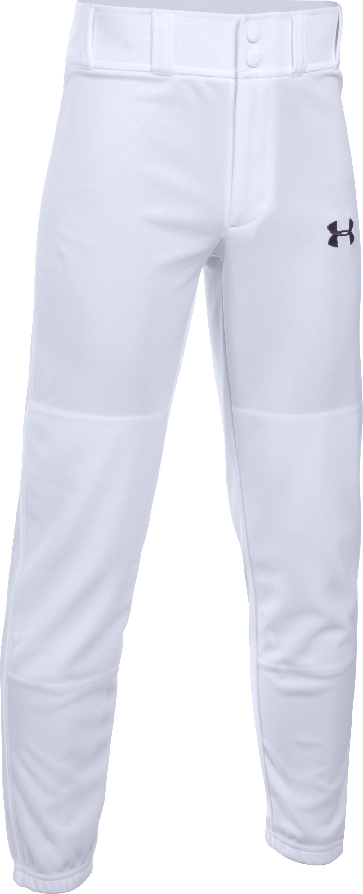 Boys' UA Closed Bottom Clean Up Pants, White, zoomed image