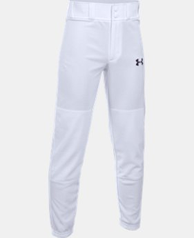 New Arrival  Boys' UA Clean Up Cuffed Baseball Pants   $29.99