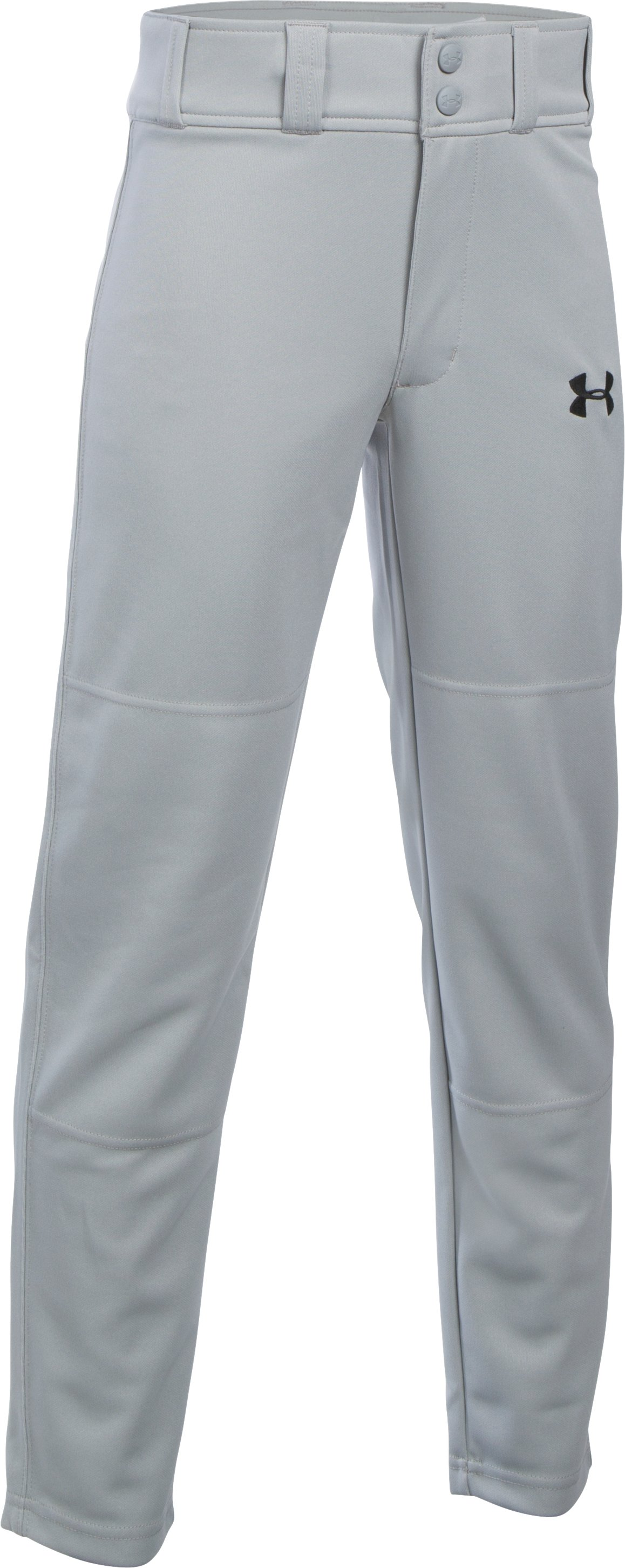 Boys' UA Clean Up Pants, Baseball Gray, zoomed image