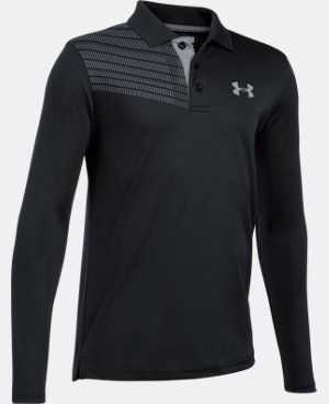 New Arrival Boys' UA Graphic Long Sleeve Polo LIMITED TIME: FREE U.S. SHIPPING  $39.99