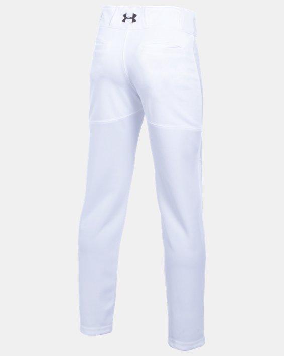 Boys' UA Lead Off Baseball Pants, White, pdpMainDesktop image number 1