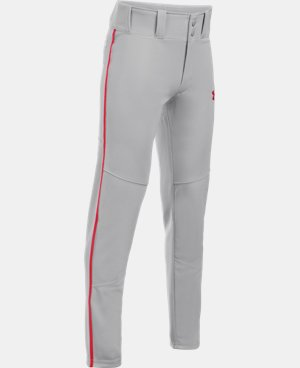 New Arrival Boys' UA Heater Piped Baseball Pants  2 Colors $34.99