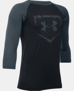 New Arrival  Boys' UA Baseball ¾ Sleeve  1 Color $29.99