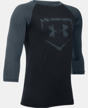 New Arrival  Boys' UA Baseball ¾ Sleeve LIMITED TIME: FREE SHIPPING 1 Color $29.99