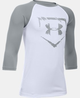 Boys' UA Baseball ¾ Sleeve  1 Color $24.99