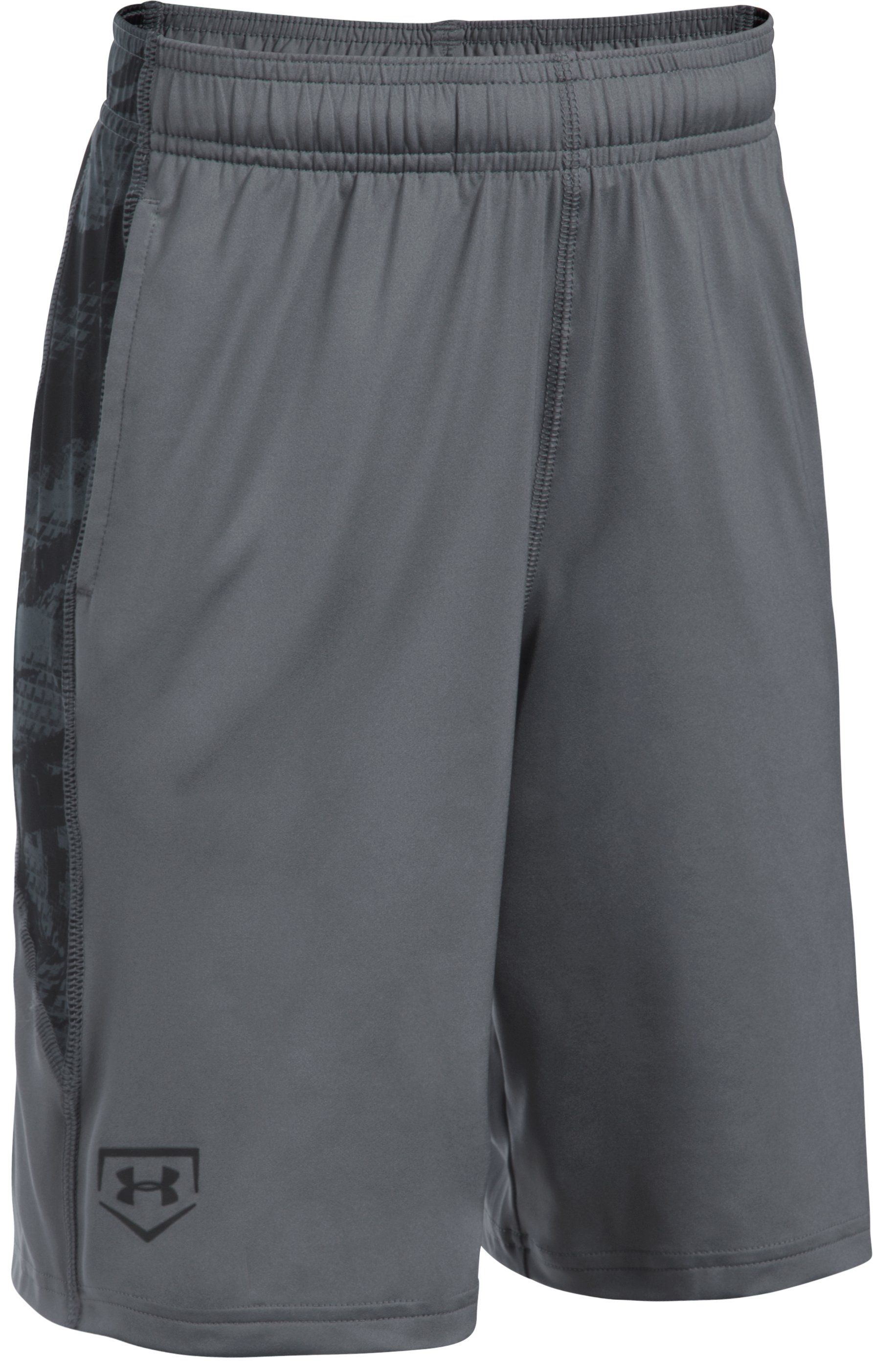 Boys' UA Baseball Shorts, Graphite