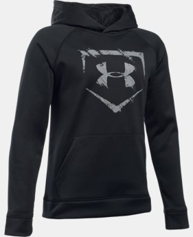New Arrival Boys' UA Baseball Logo Hoodie  LIMITED TIME: FREE U.S. SHIPPING 1 Color $49.99