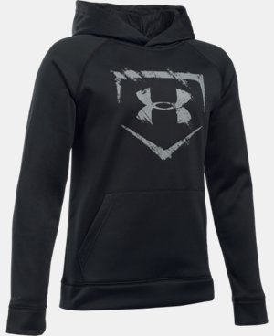 New Arrival Boys' UA Baseball Logo Hoodie  LIMITED TIME: FREE U.S. SHIPPING  $49.99