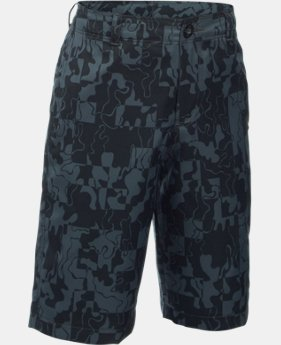 Boys' UA Match Play Printed Cargo Golf Shorts
