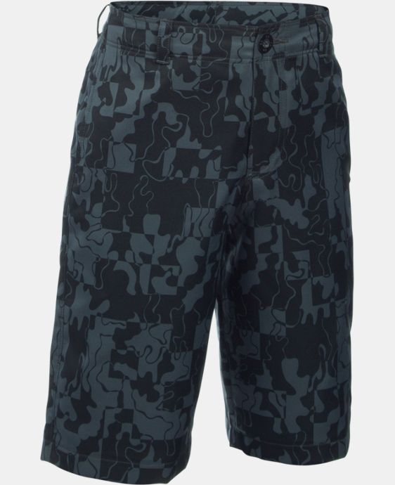 Boys' UA Match Play Printed Cargo Golf Shorts   $44.99