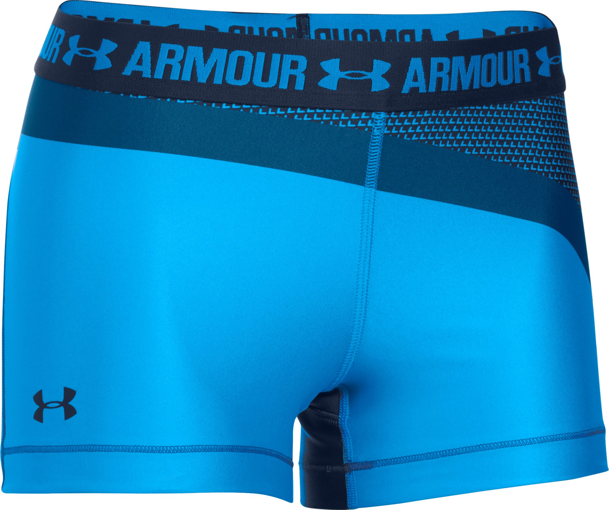 "Women's UA HeatGear® Armour 3"" Engineered Shorty , Water"