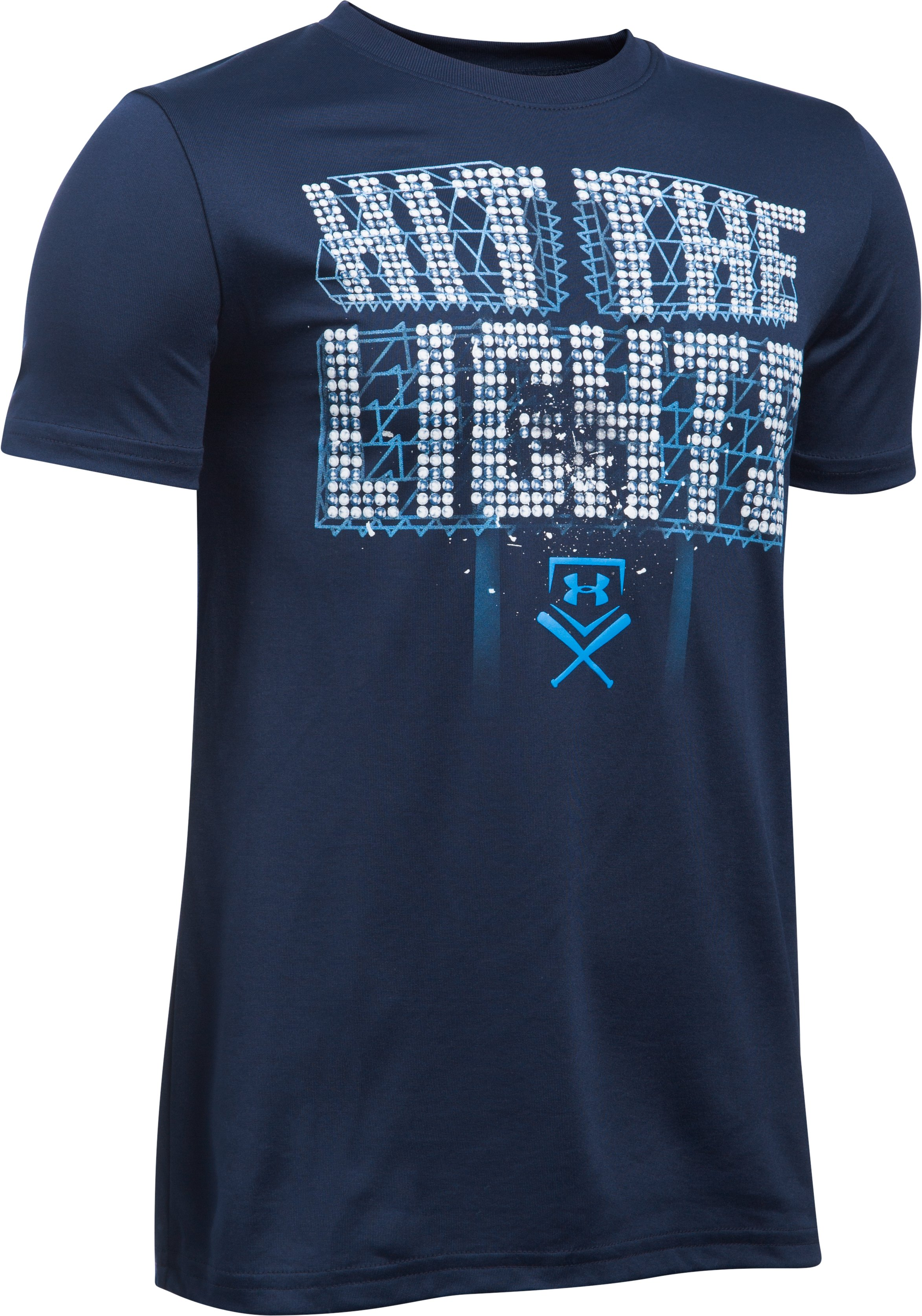 Boys' UA Hit The Lights Short Sleeve T-Shirt, Midnight Navy
