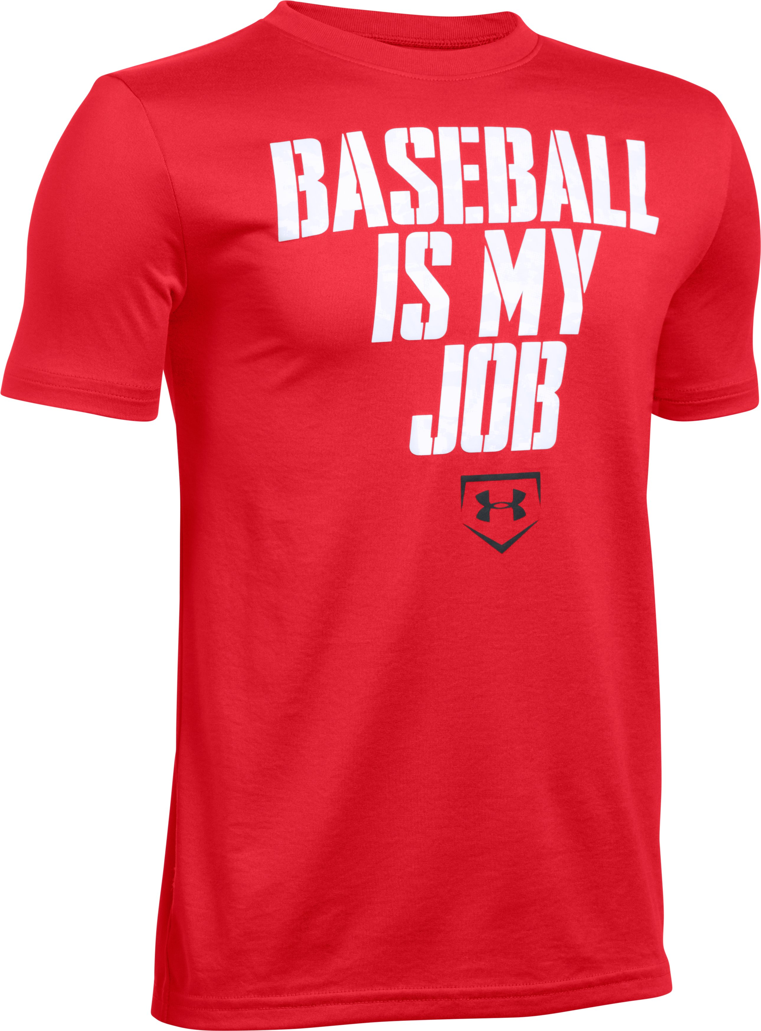 Boys' UA Baseball Is My Job T-Shirt, Red, zoomed image