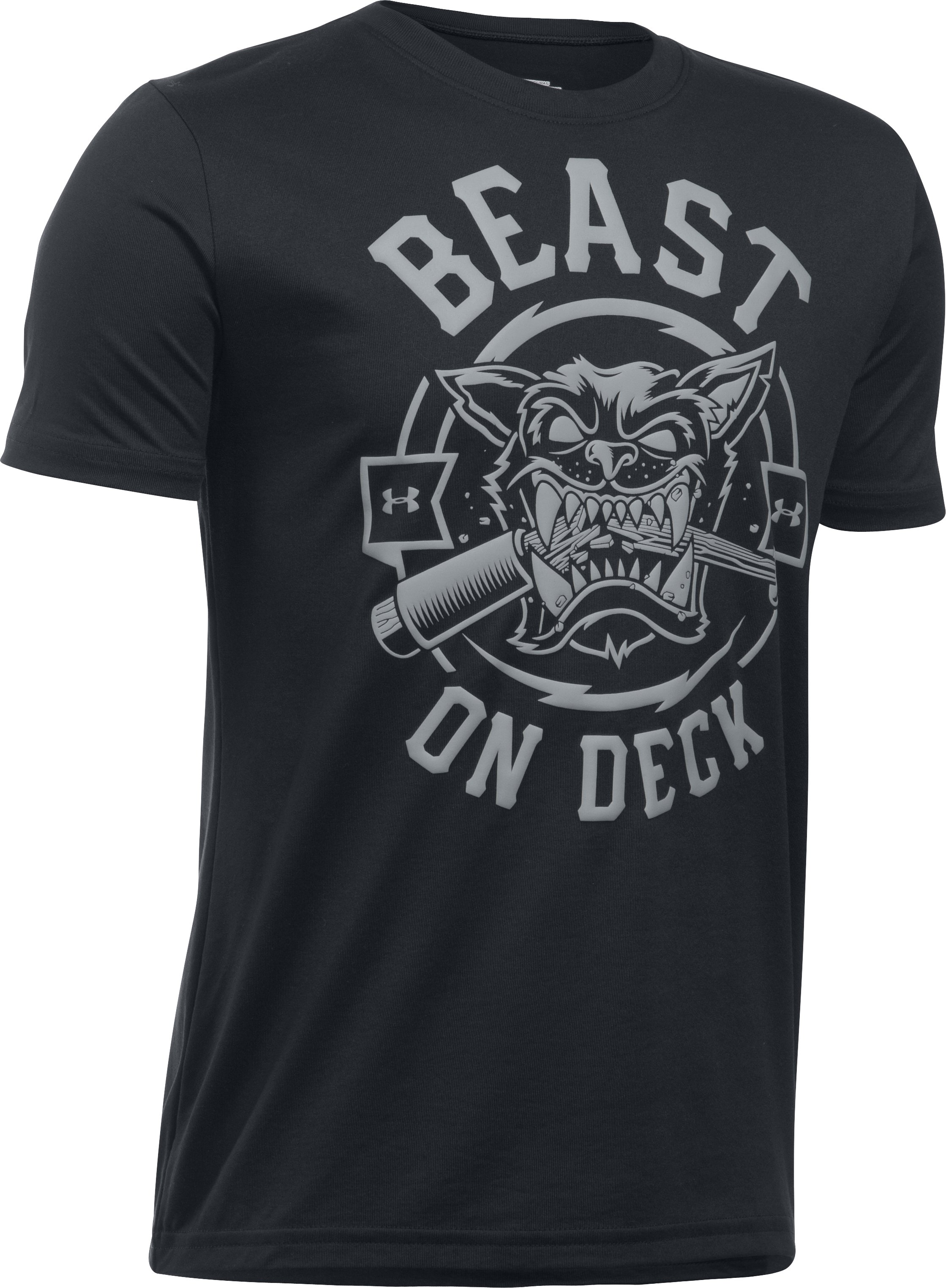 Boys' UA Beast On Deck T-Shirt, Black ,