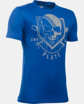 Boys' UA Own The Plate T-Shirt LIMITED TIME: FREE U.S. SHIPPING 2 Colors $19.99