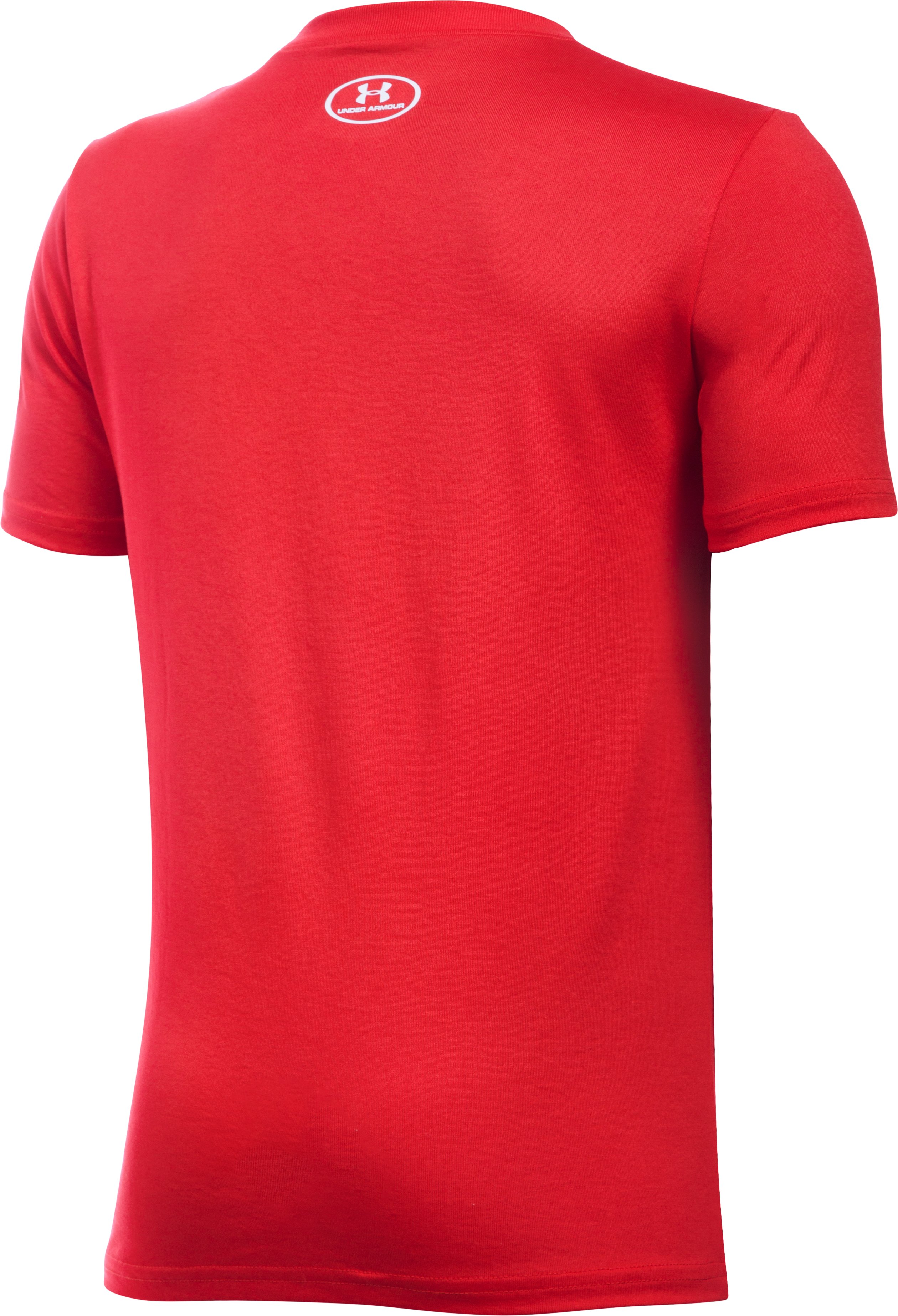 Boys' UA Own The Plate T-Shirt, Red, undefined