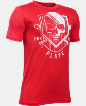 Boys' UA Own The Plate T-Shirt LIMITED TIME: FREE U.S. SHIPPING 1 Color $19.99