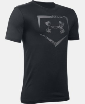 New Arrival  Boys' UA Diamond Logo T-Shirt LIMITED TIME: FREE SHIPPING  $22.99