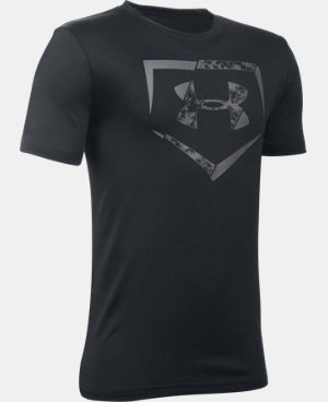 New Arrival  Boys' UA Diamond Logo T-Shirt LIMITED TIME: FREE SHIPPING 1 Color $22.99