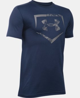 New Arrival Boys' UA Diamond Logo T-Shirt LIMITED TIME: FREE SHIPPING 1 Color $19.99