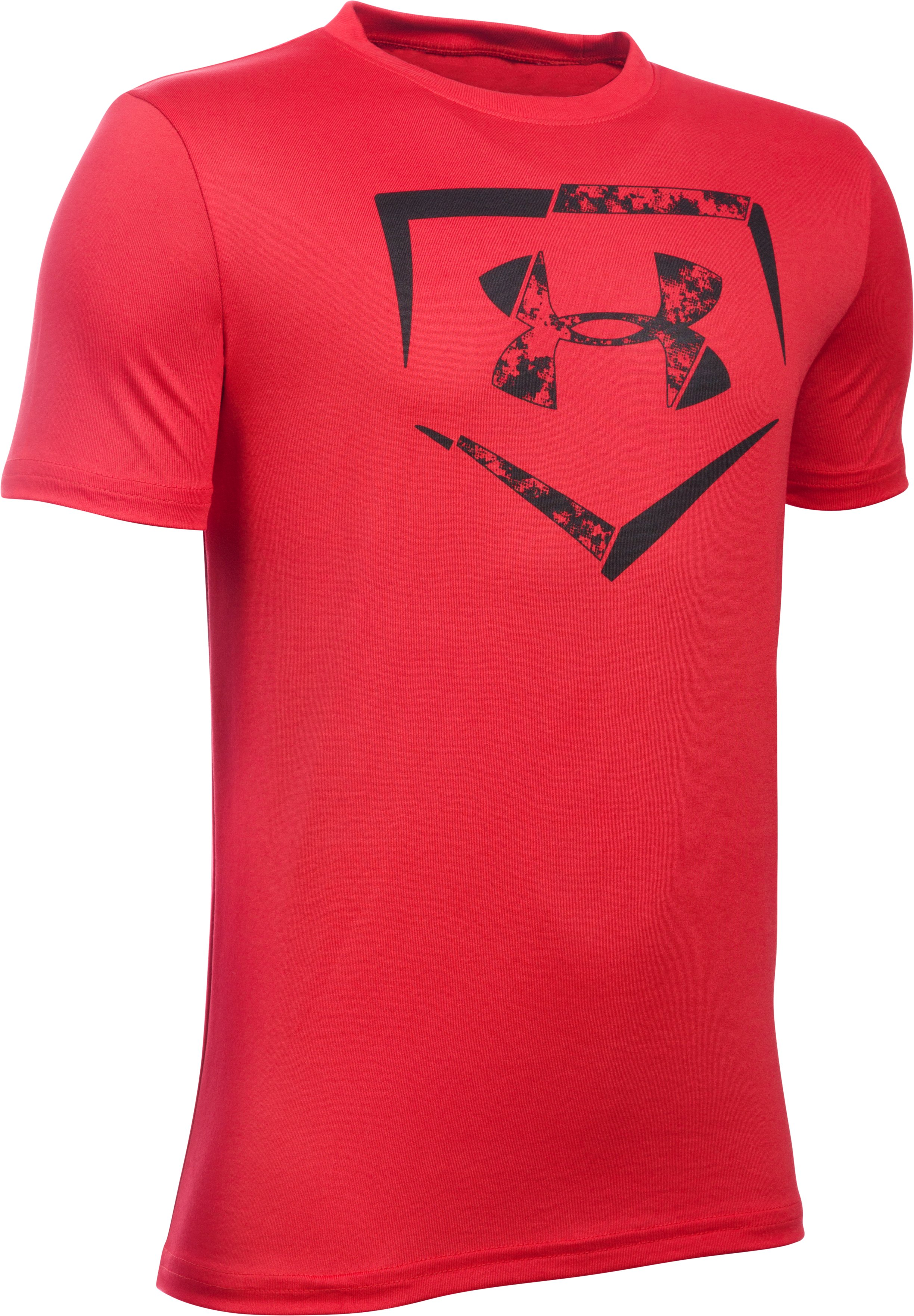 Boys' UA Diamond Logo T-Shirt, Red, undefined