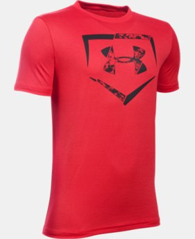 Best Seller Boys' UA Diamond Logo T-Shirt  3 Colors $19.99