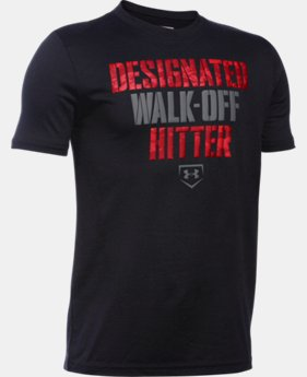 New Arrival  Boys' UA Designated Hitter T-Shirt LIMITED TIME: FREE SHIPPING 1 Color $22.99