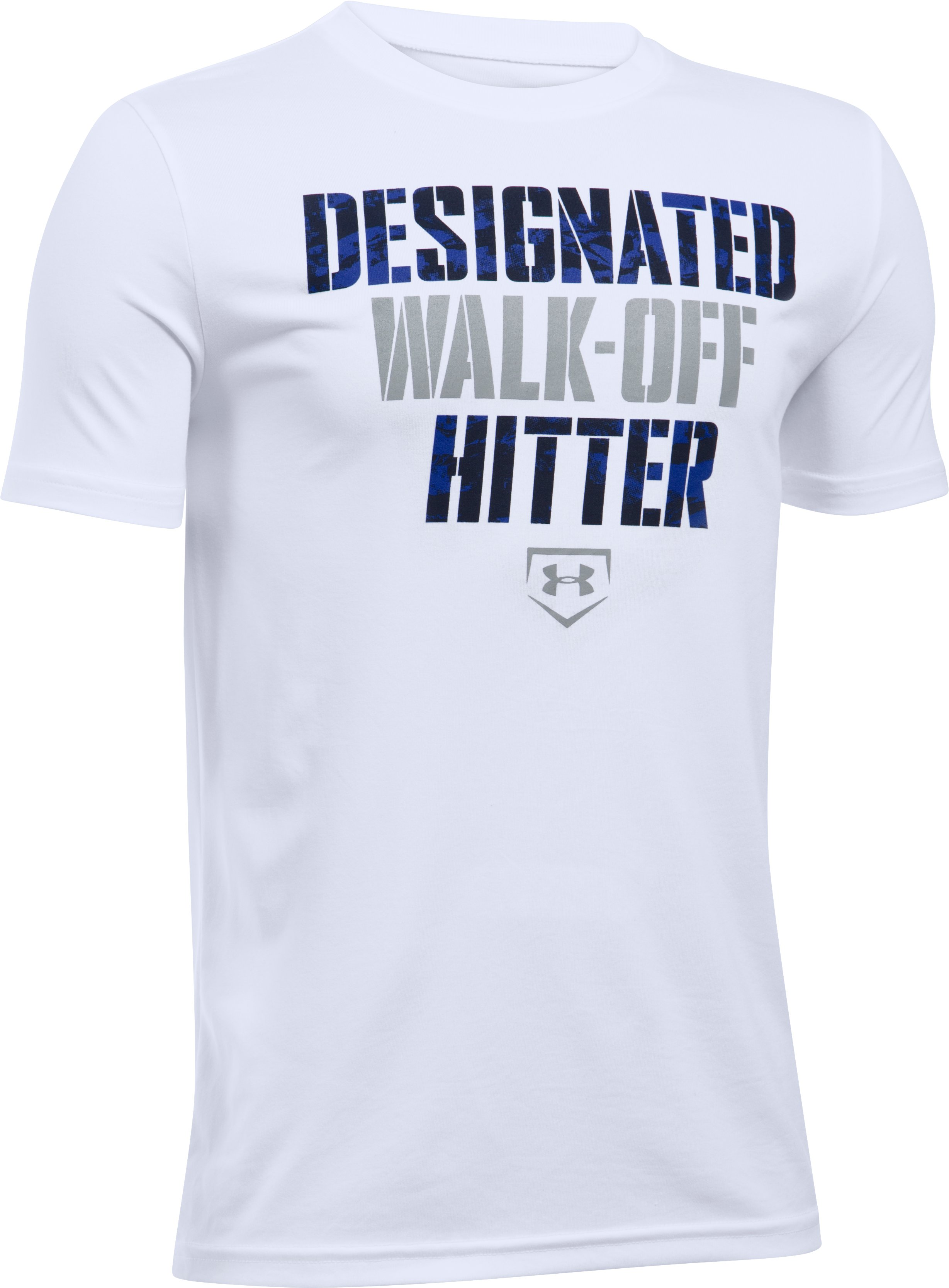 Boys' UA Designated Hitter T-Shirt, White, zoomed image
