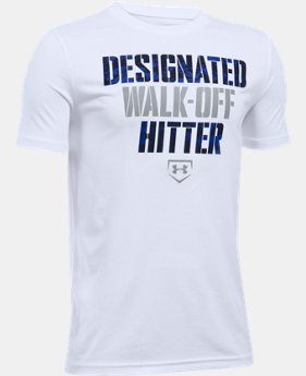 Boys' UA Designated Hitter T-Shirt LIMITED TIME: FREE U.S. SHIPPING 1 Color $19.99