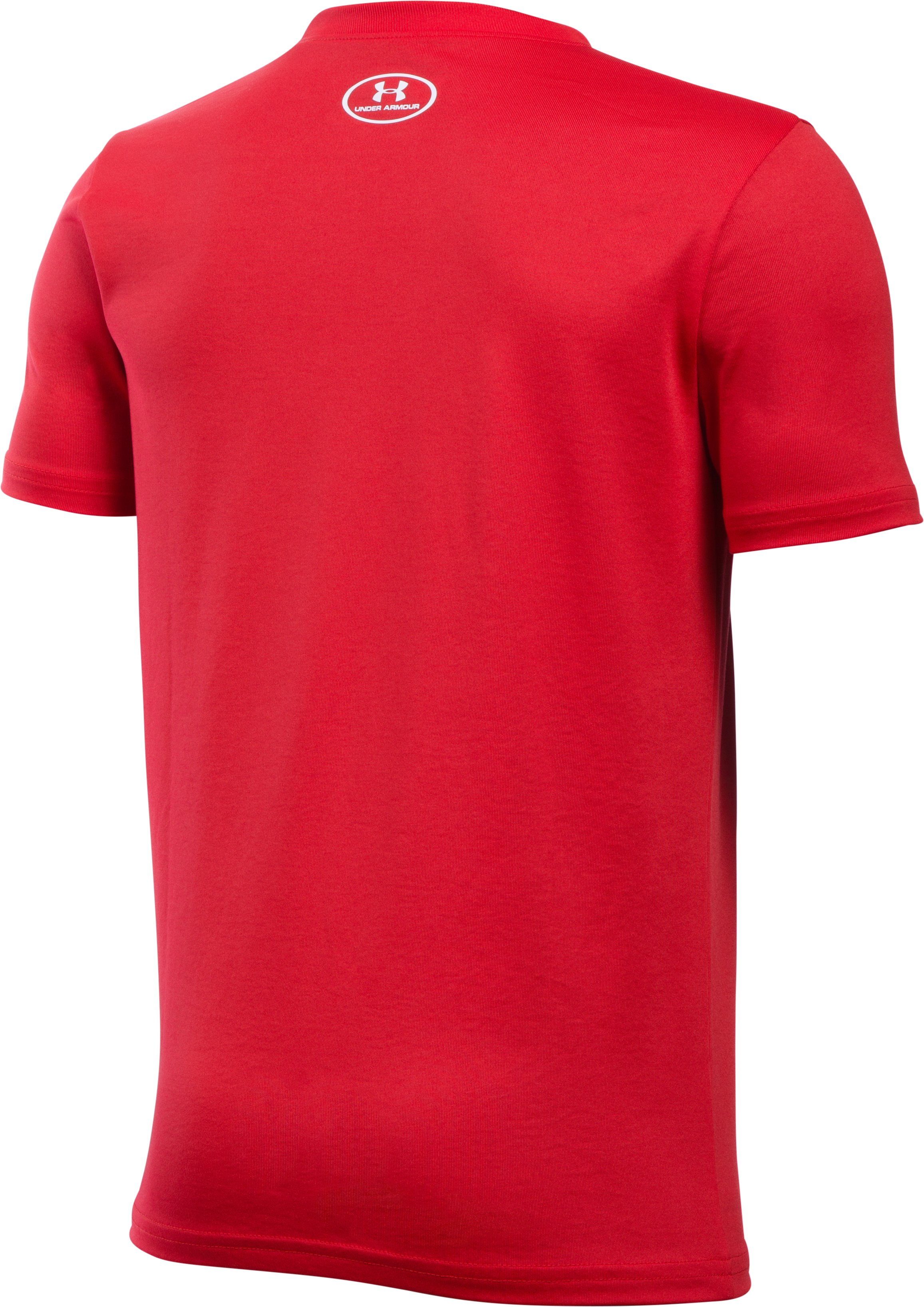 Boys' UA Designated Hitter T-Shirt, Red, undefined