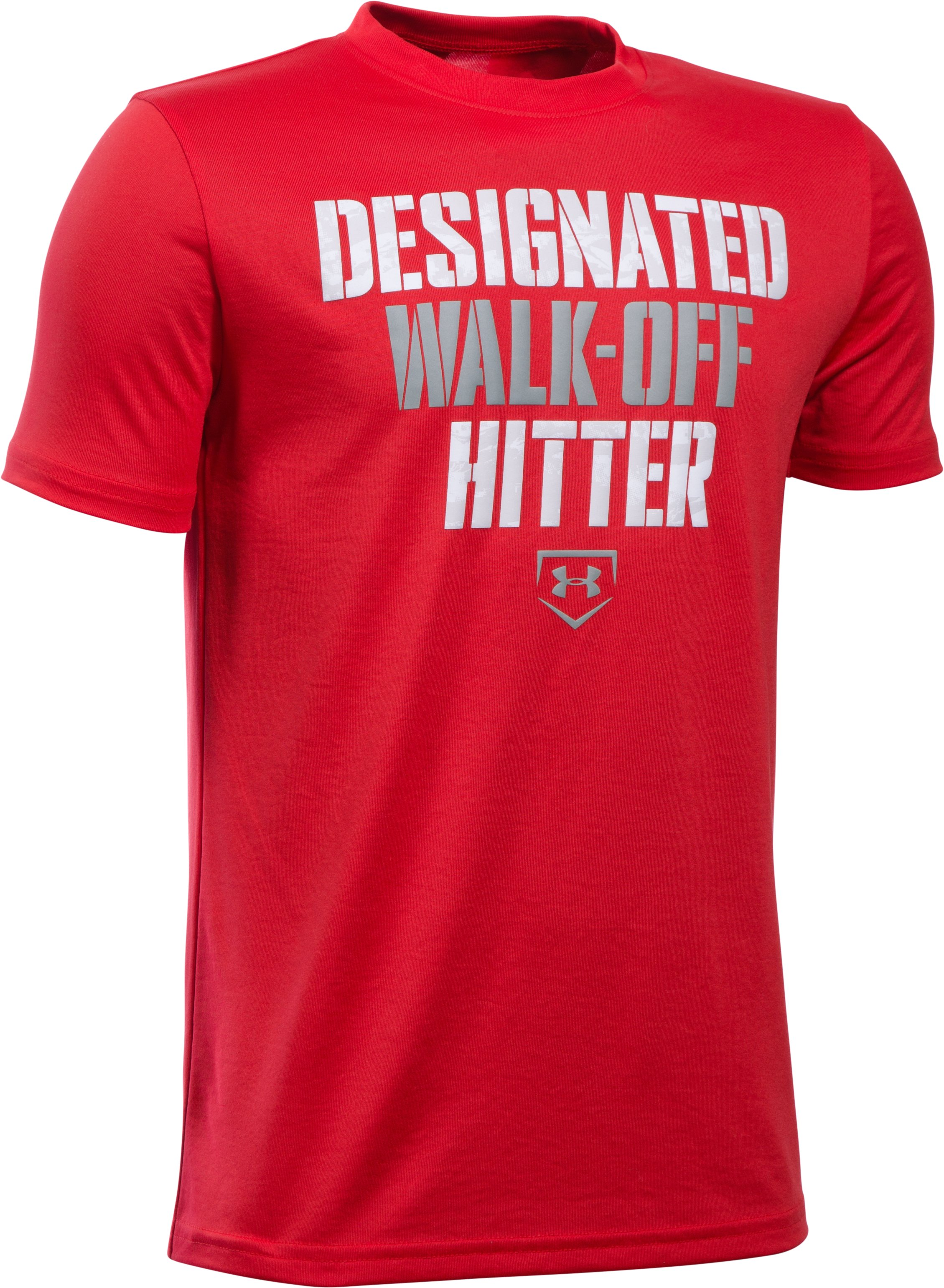 Boys' UA Designated Hitter T-Shirt, Red