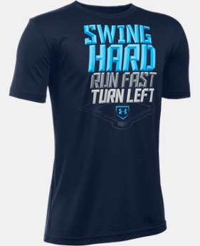 Boys' UA Swing Run Turn T-Shirt LIMITED TIME: FREE U.S. SHIPPING 1 Color $19.99