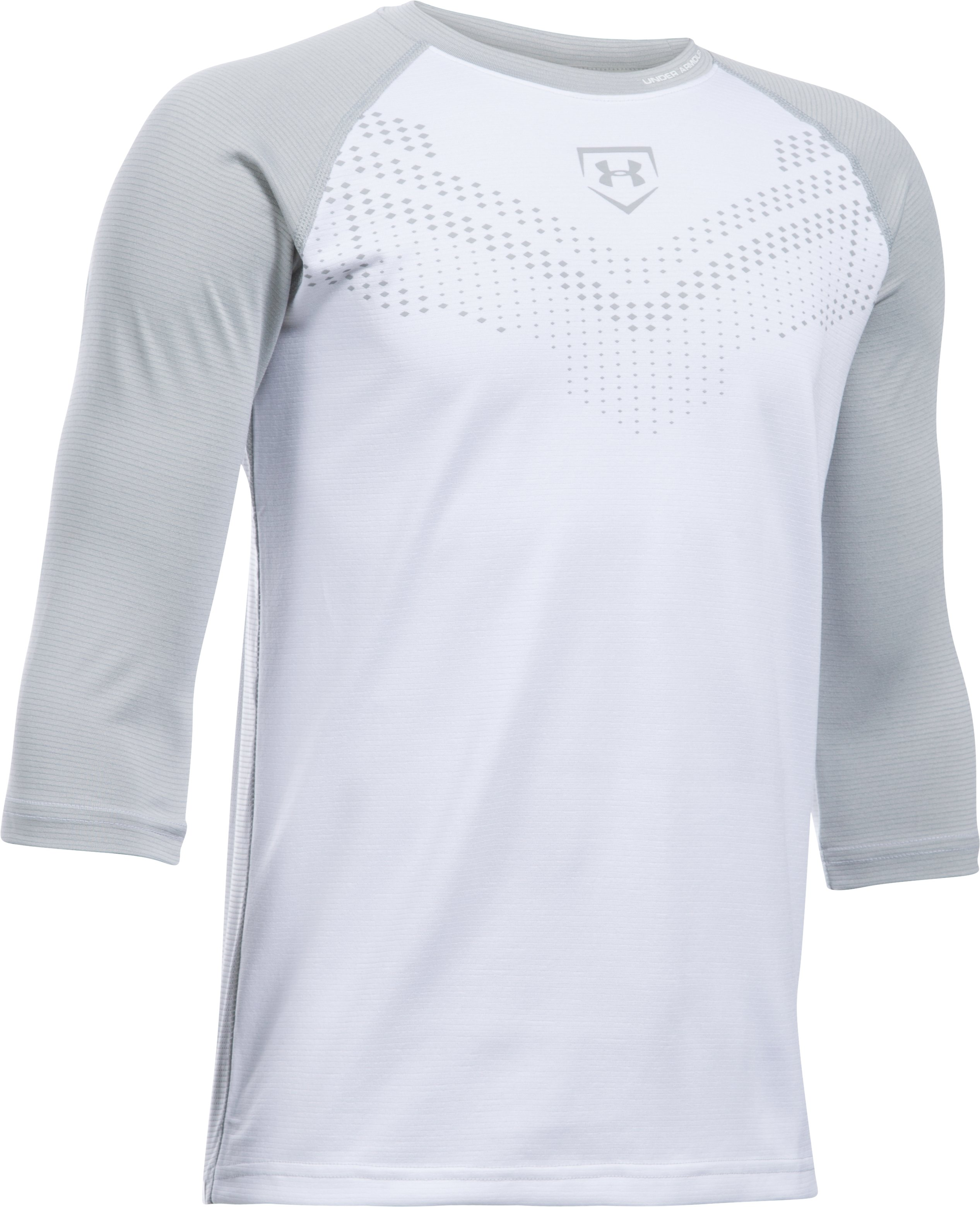 Boys' UA Undeniable ¾ Sleeve T, White