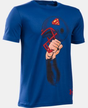 Boys' Under Armour® Alter Ego Superman Helmet T- Shirt