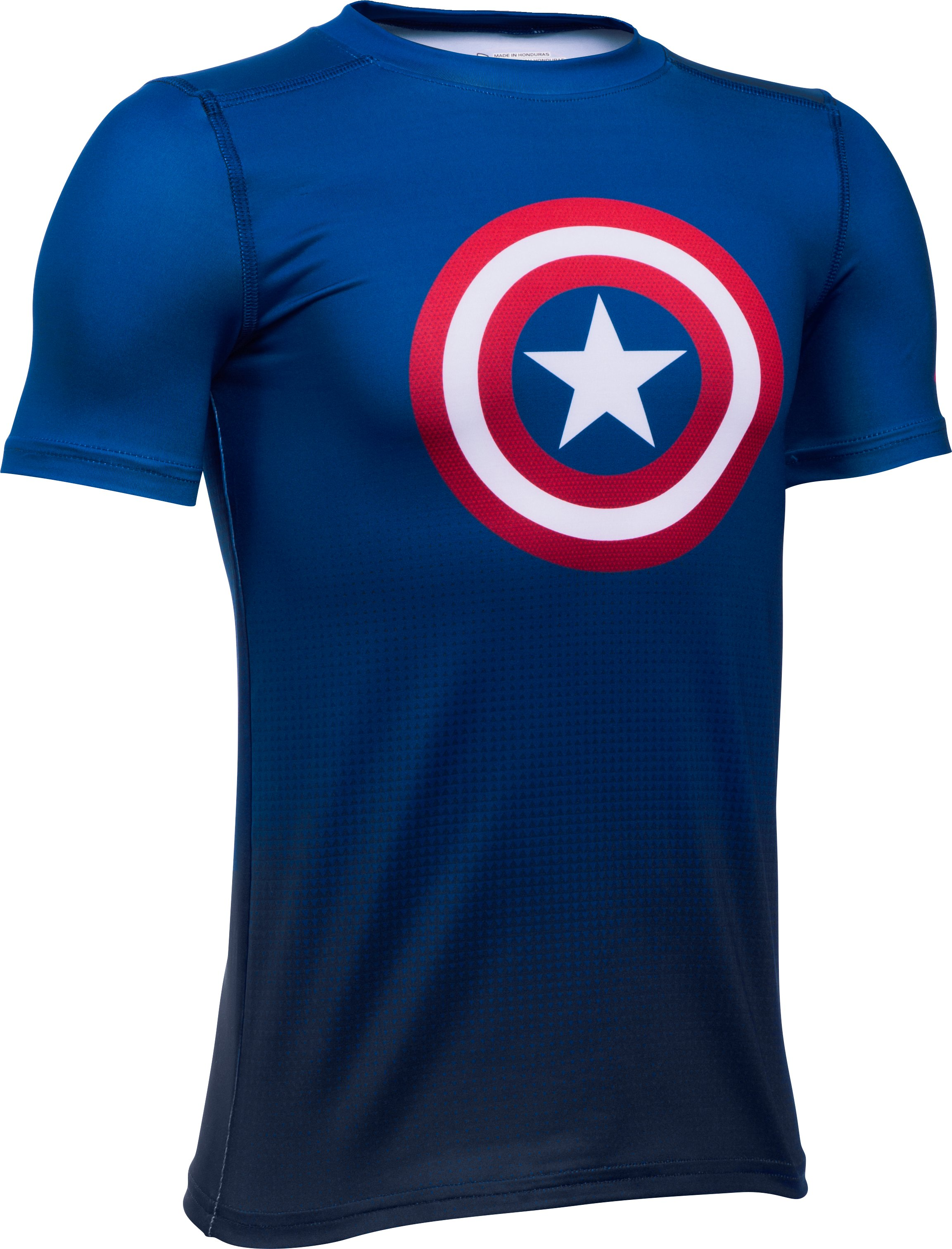 Boys' Under Armour® Alter Ego Marvel Fitted Baselayer, Royal, zoomed image