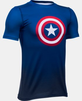 New Arrival Boys' Under Armour® Alter Ego Marvel Superhero Fitted Shirt   $34.99