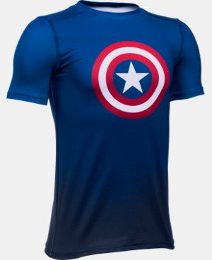 New Arrival Boys' Under Armour® Alter Ego Marvel Superhero Fitted Shirt  1 Color $34.99