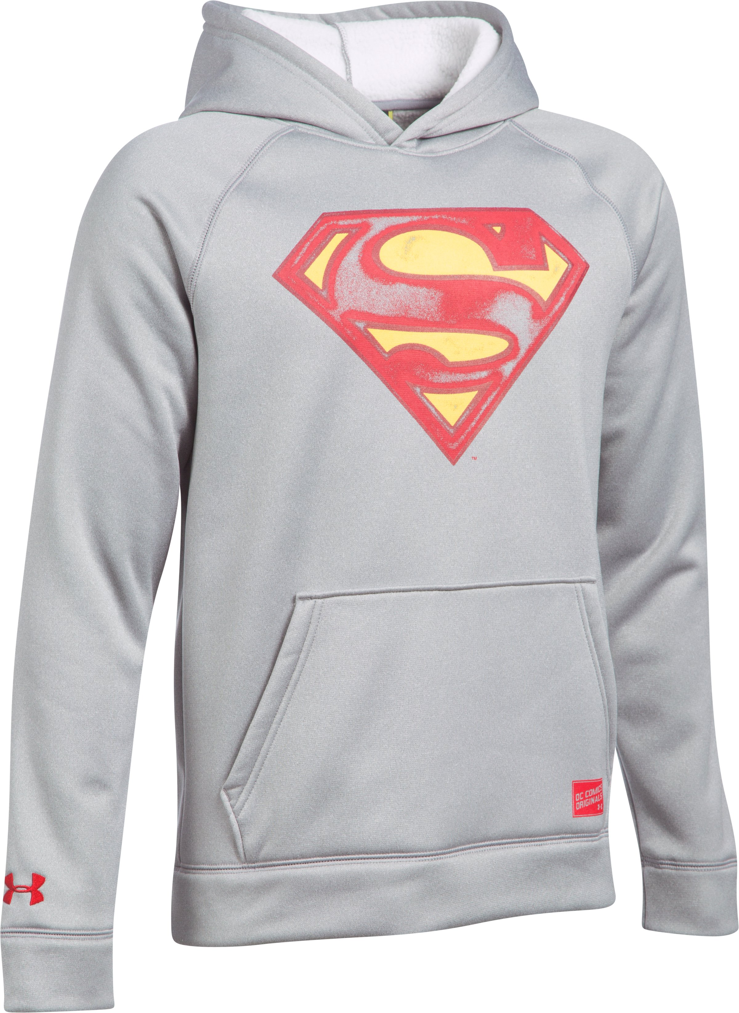 Boys' Under Armour® Alter Ego Superman Hoodie, True Gray Heather,