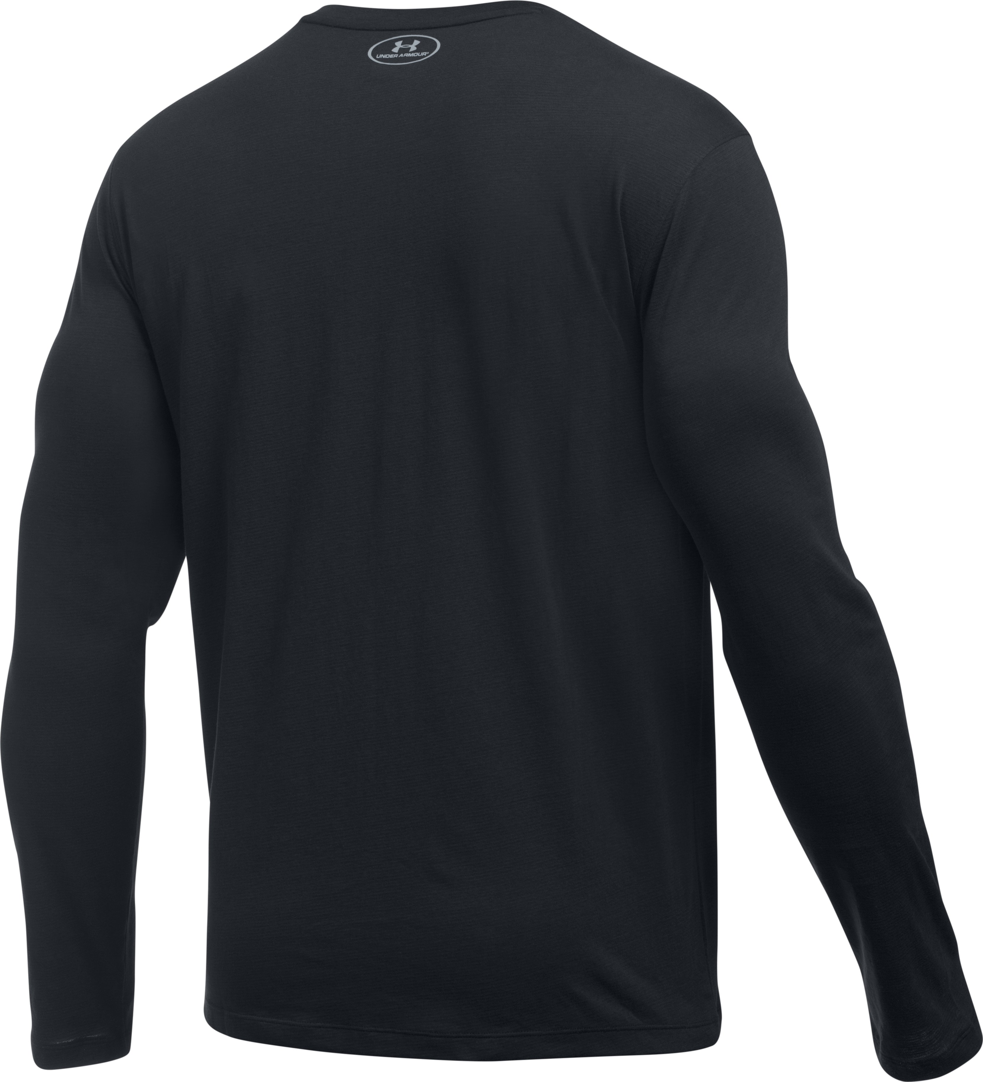 Men's Charged Cotton® Long Sleeve T-Shirt, Black ,