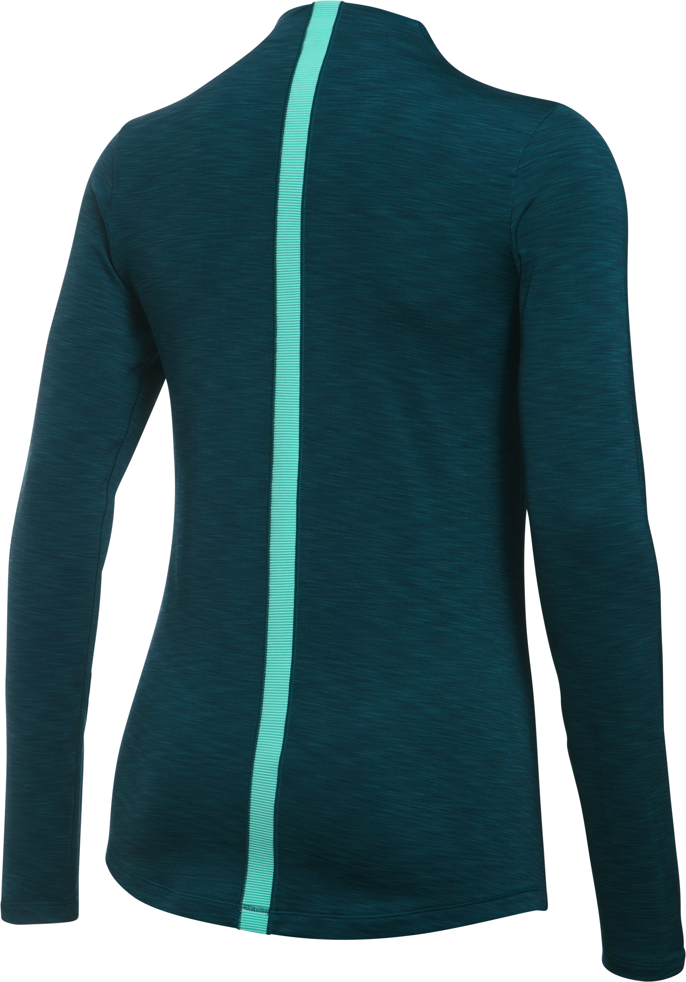 Women's UA ColdGear® Armour Mock, NOVA TEAL