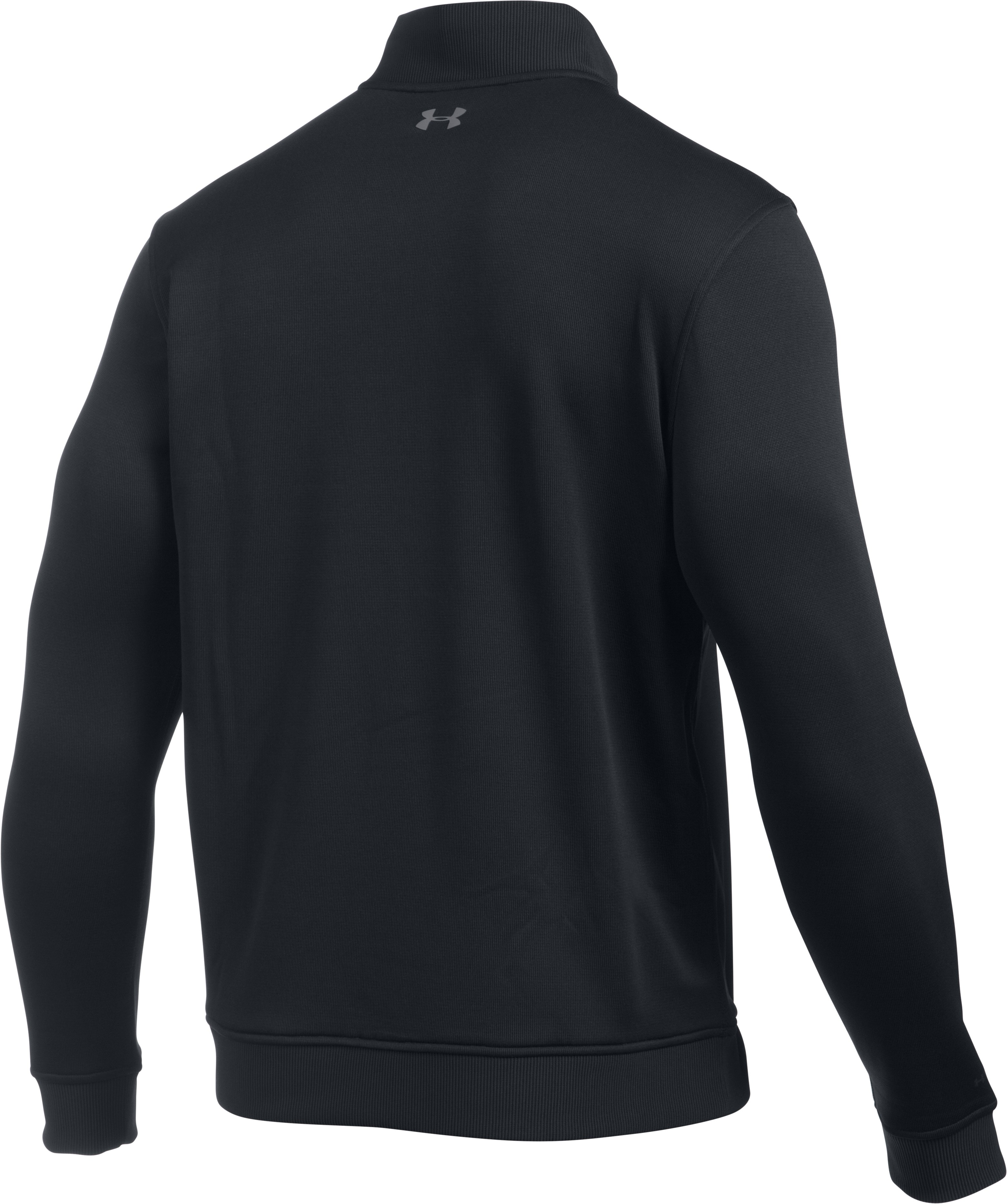 Men's UA Storm SweaterFleece ¼ Zip, Black ,