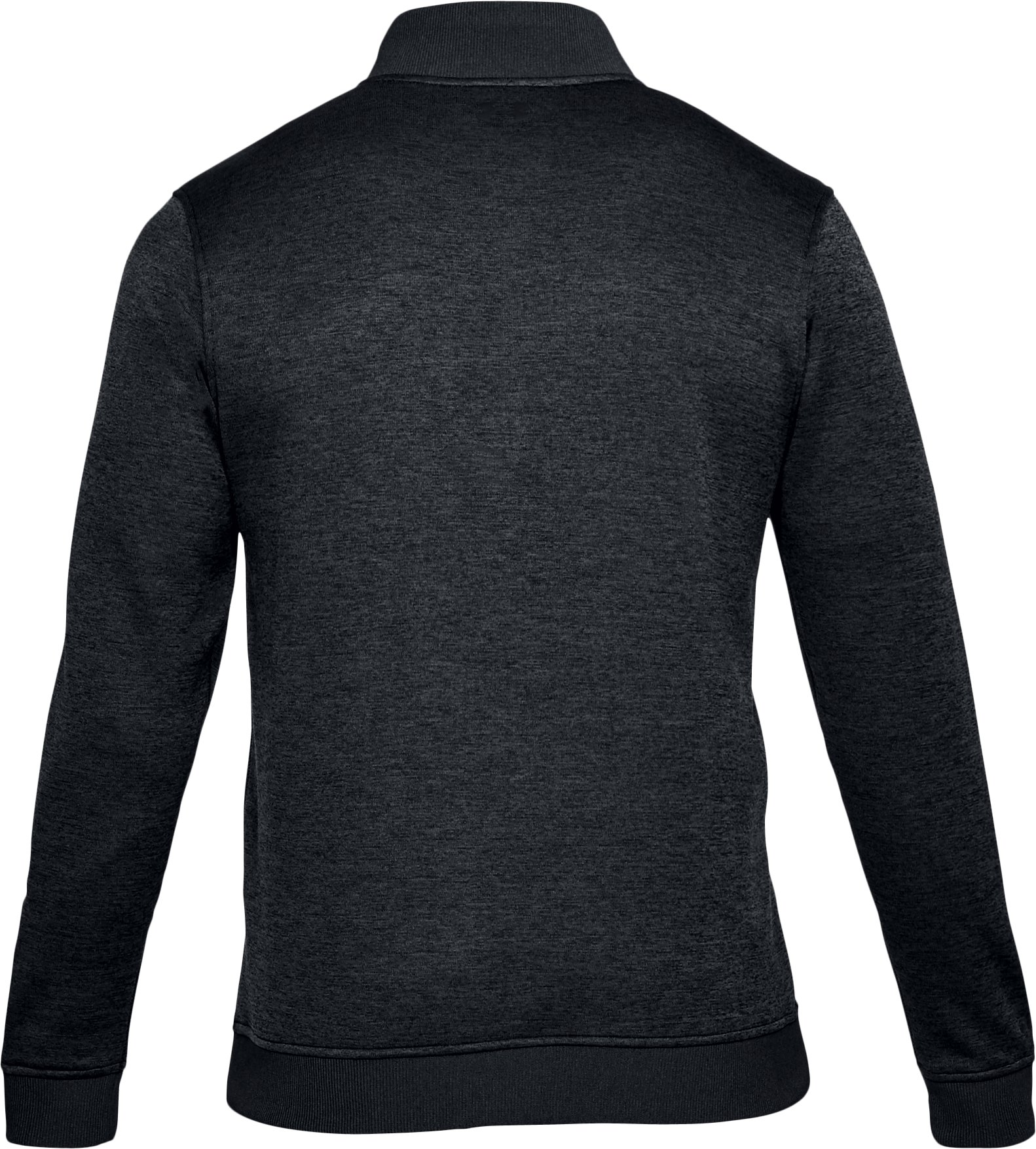 Men's UA Storm SweaterFleece ¼ Zip, BLACK FULL HEATHER, undefined