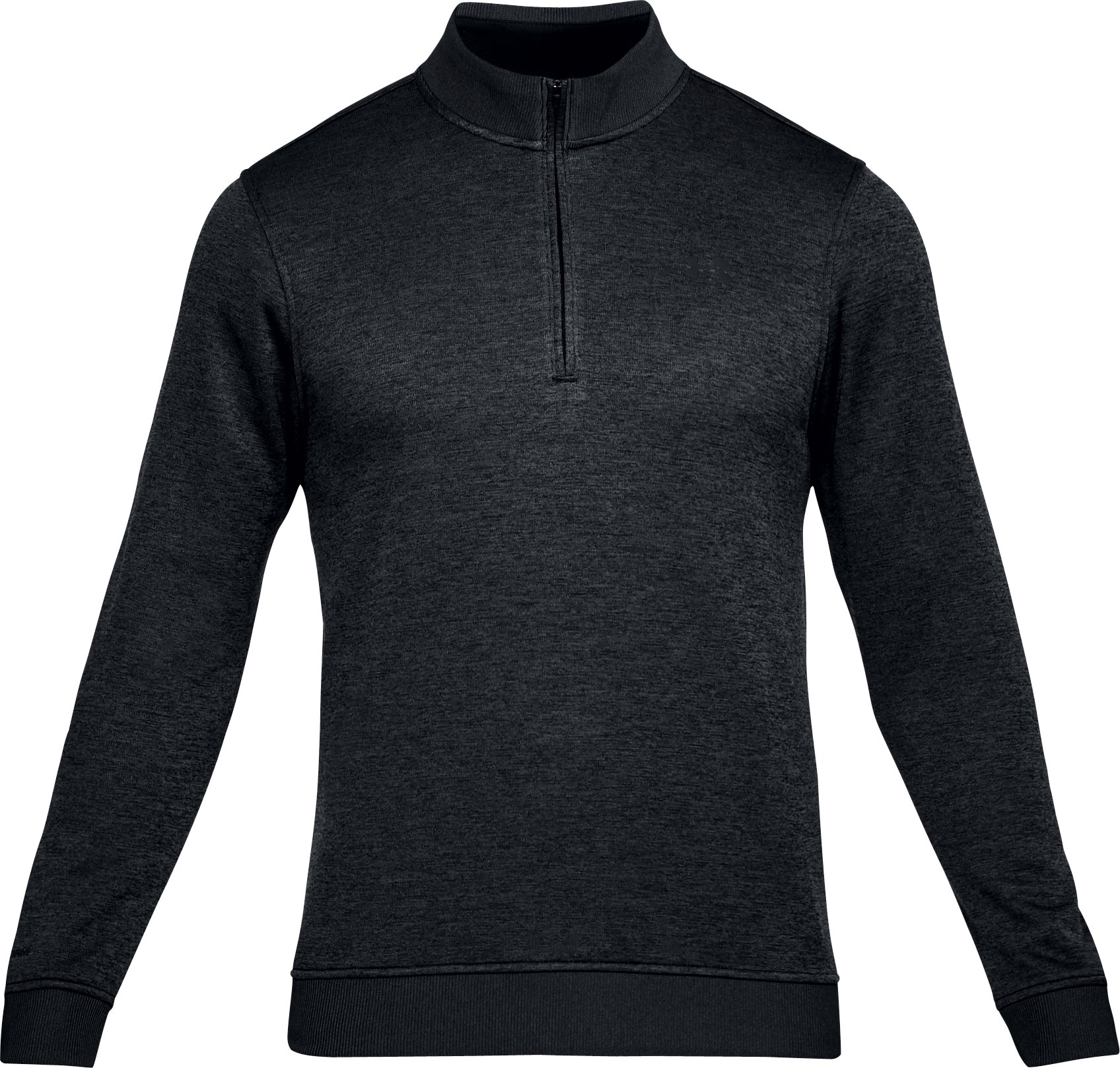 Men's UA Storm SweaterFleece ¼ Zip, BLACK FULL HEATHER,