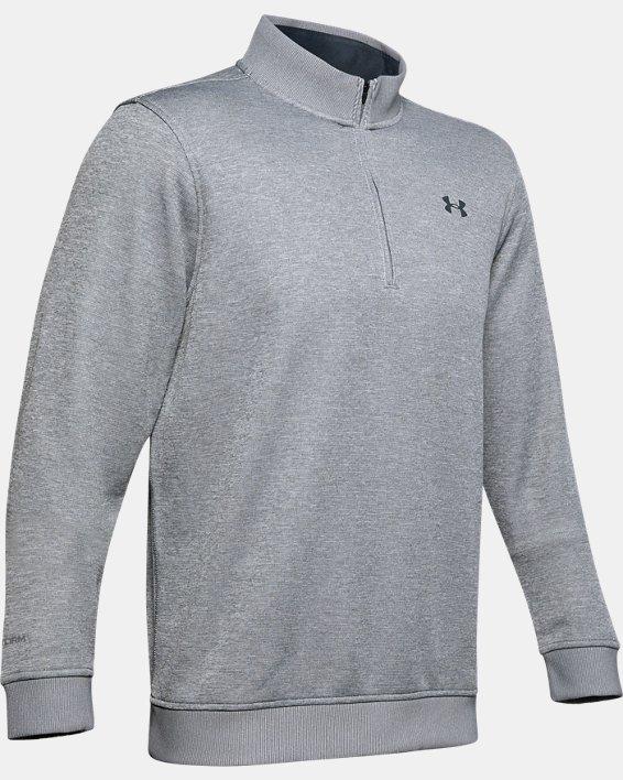 Men's UA Storm SweaterFleece ¼ Zip, Gray, pdpMainDesktop image number 5