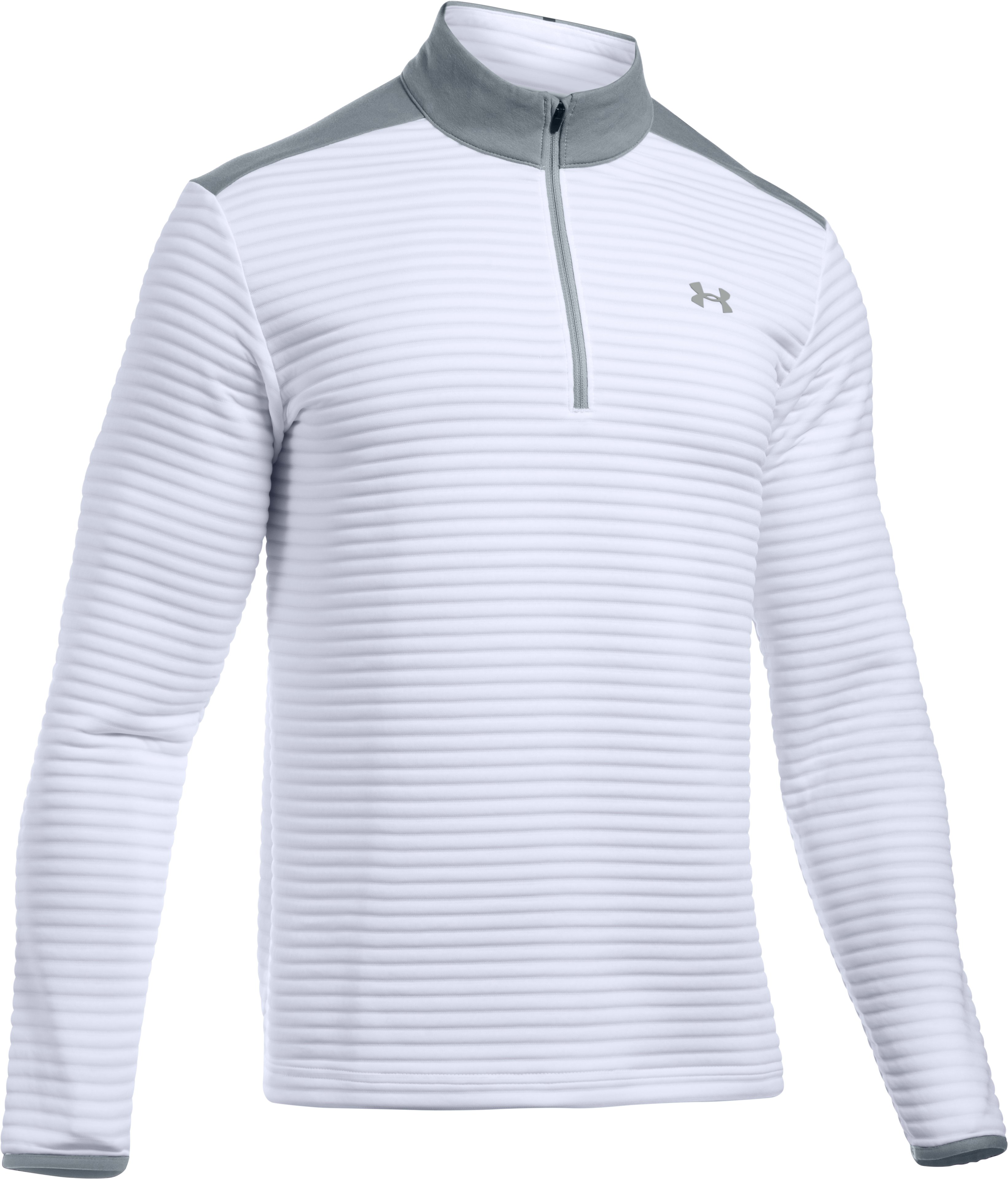 Men's UA Tips Daytona ¼ Zip, White, undefined
