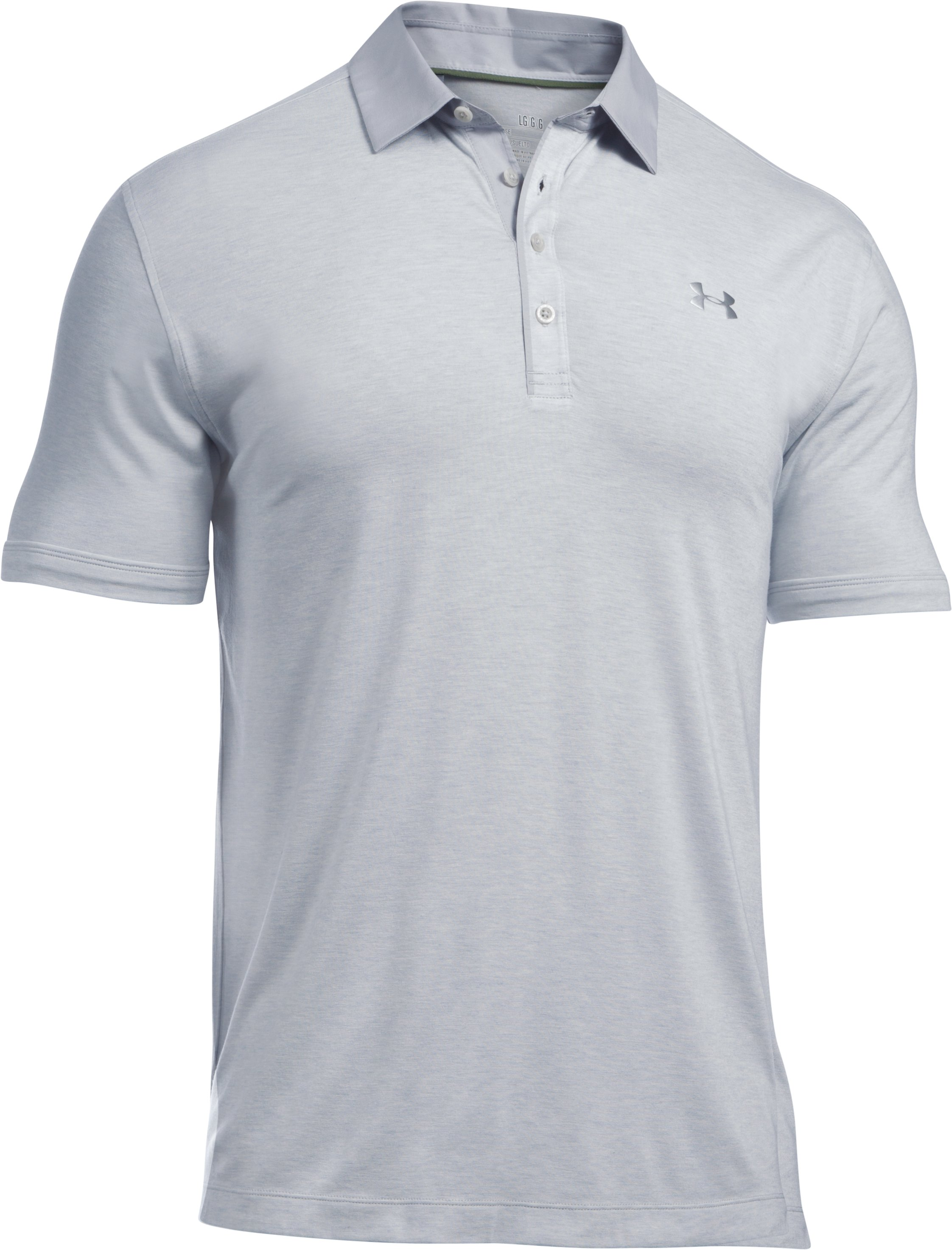 Men's UA Tips Polo, AIR FORCE GRAY HEATHER
