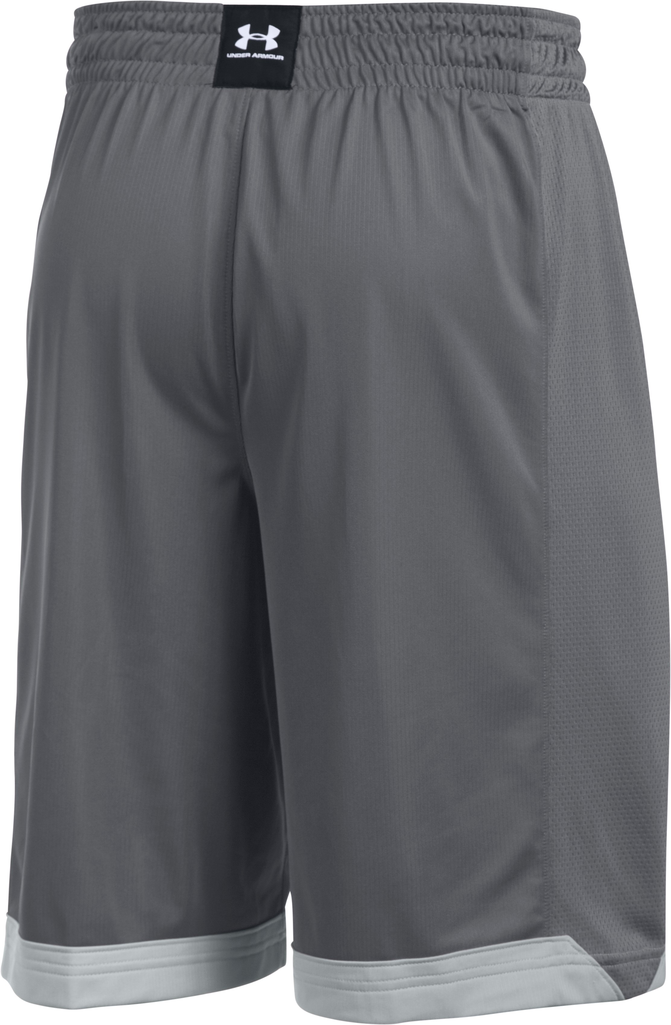 Men's UA Isolation Basketball Shorts, Graphite, undefined