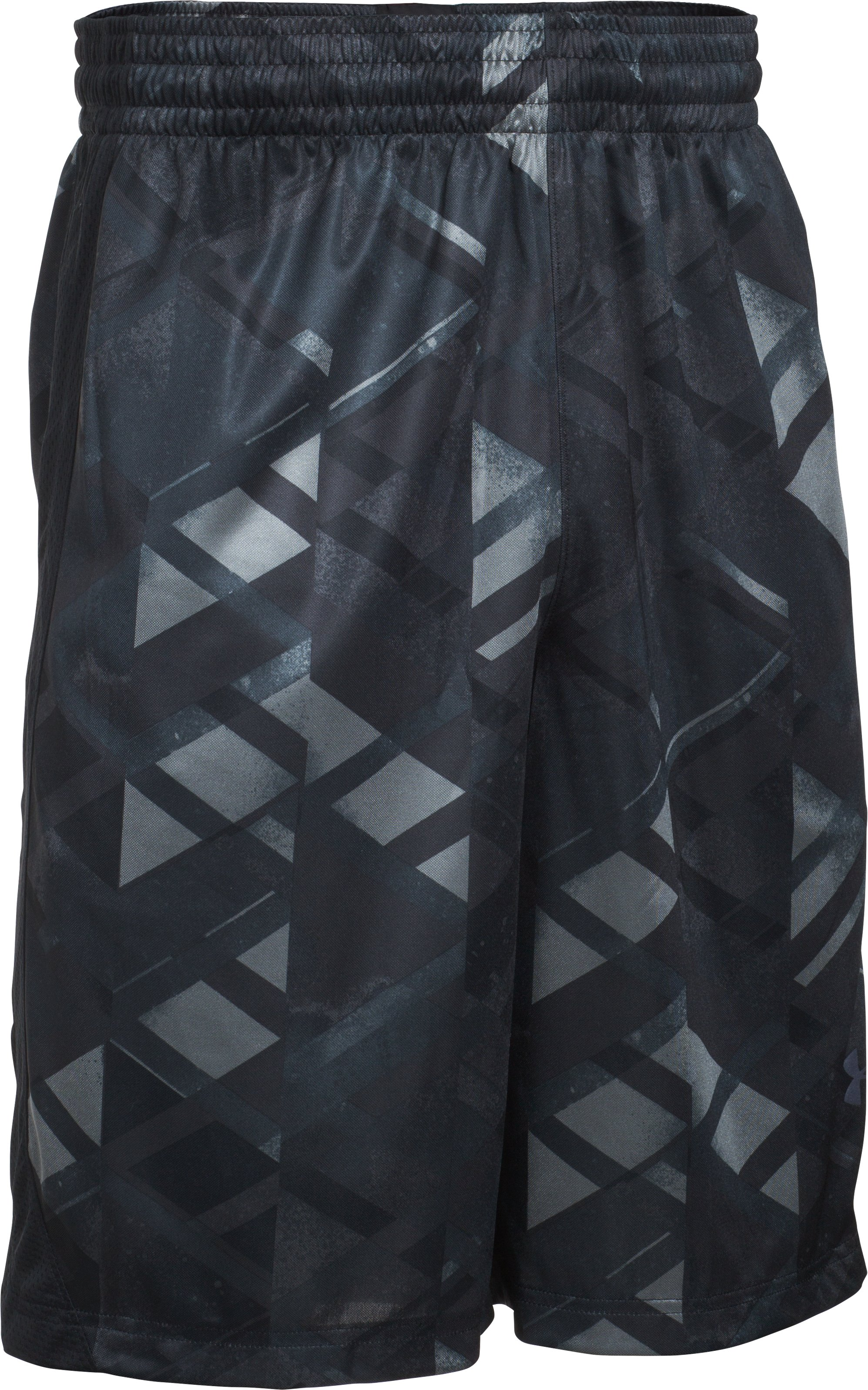Men's UA TriAngle O Printed Shorts, Black , undefined
