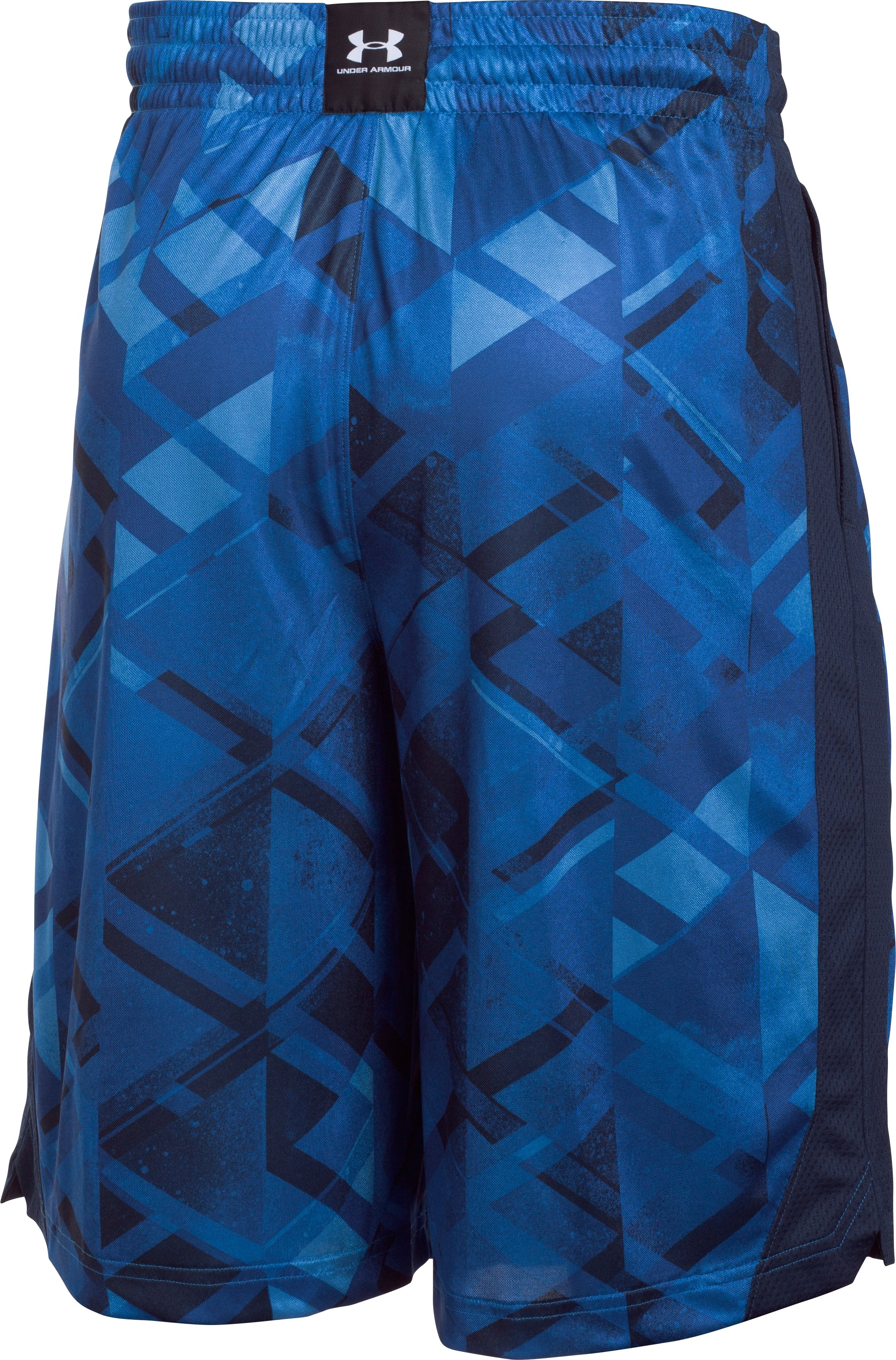 Men's UA TriAngle O Printed Shorts, Midnight Navy, undefined